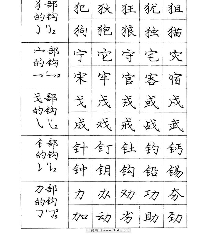 庞中华硬笔钢笔书法字帖14(楷书)书法作品字帖欣赏三