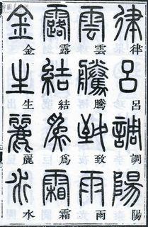 邓石如邓石如《篆书千字文》07作品欣赏