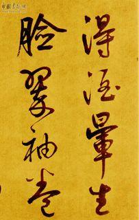 鲜于枢书《苏轼海棠诗卷》09作品欣赏