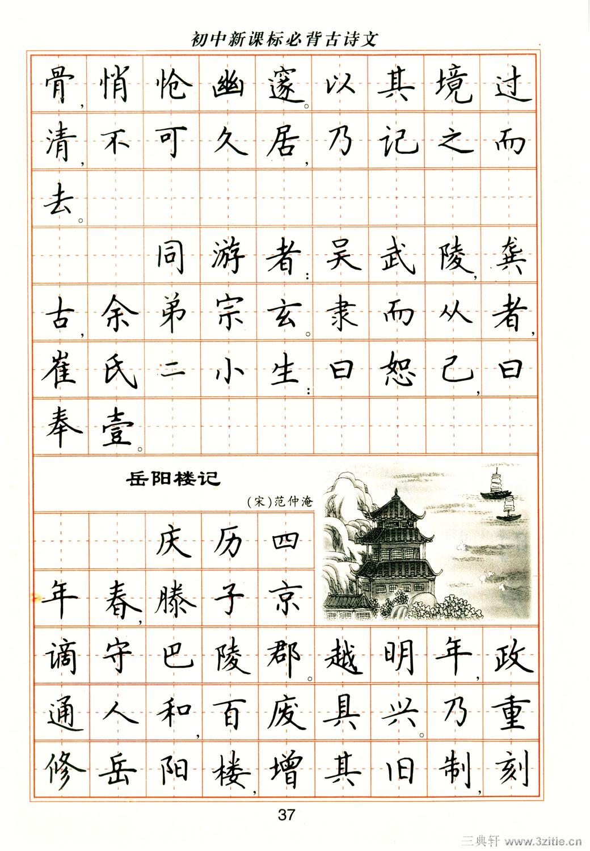卢中南钢笔楷书字帖图片