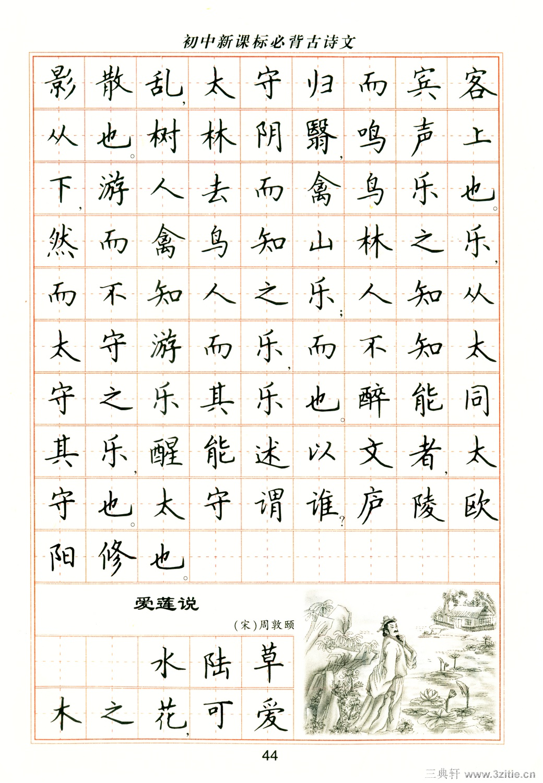 卢中南钢笔楷书字帖43(楷书)书法绘画作品字帖画谱三