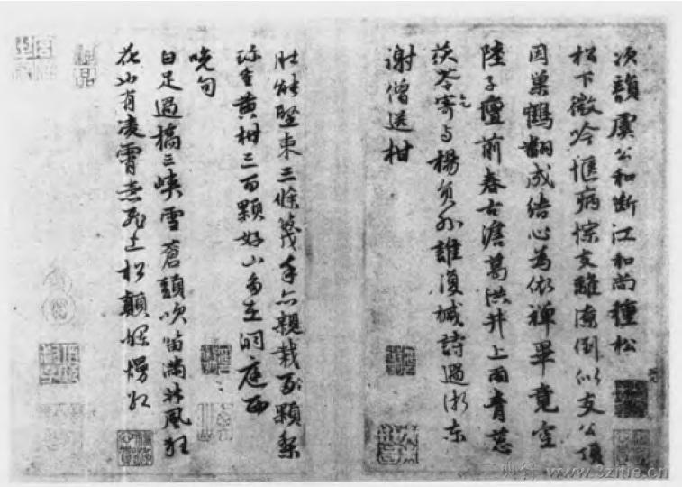中国书法全集 鲜于枢165作品欣赏