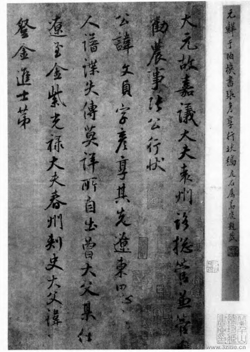 中国书法全集 鲜于枢20作品欣赏