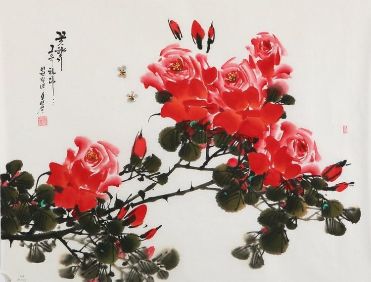 朝鲜_Oh_Young_Seong_的花鸟画欣赏朝鲜_Oh_Young_Seong_的花鸟画欣赏0001