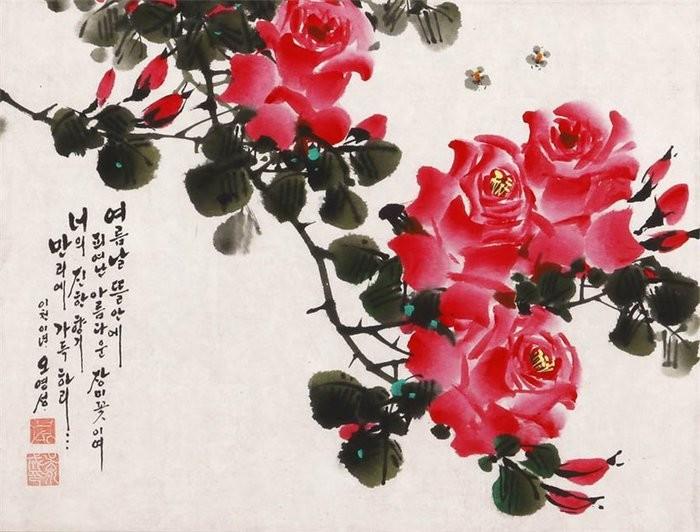 朝鲜_Oh_Young_Seong_的花鸟画欣赏朝鲜_Oh_Young_Seong_的花鸟画欣赏0002
