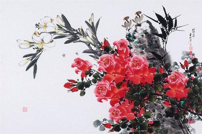 朝鲜_Oh_Young_Seong_的花鸟画欣赏朝鲜_Oh_Young_Seong_的花鸟画欣赏0003