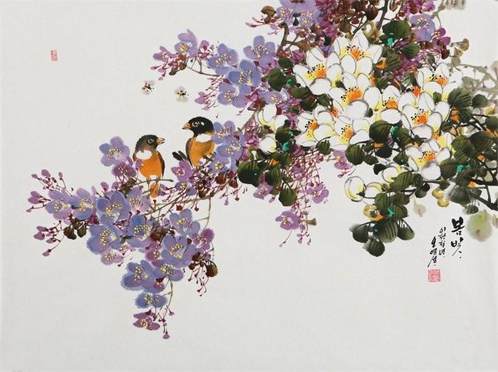 朝鲜_Oh_Young_Seong_的花鸟画欣赏朝鲜_Oh_Young_Seong_的花鸟画欣赏0005