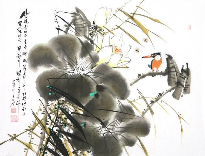 朝鲜_Oh_Young_Seong_的花鸟画欣赏朝鲜_Oh_Young_Seong_的花鸟画欣赏0009