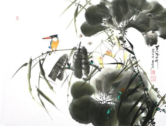 朝鲜_Oh_Young_Seong_的花鸟画欣赏朝鲜_Oh_Young_Seong_的花鸟画欣赏0010