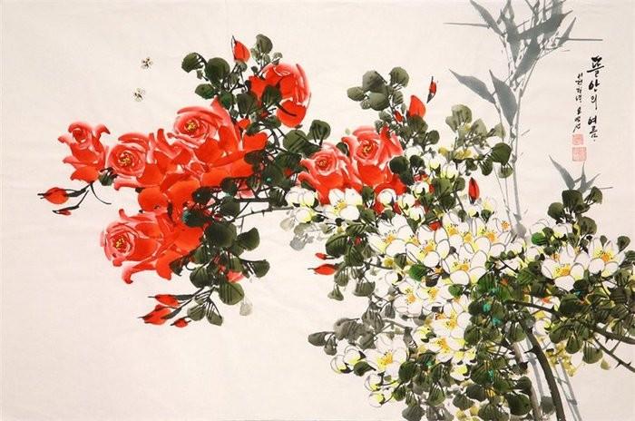 朝鲜_Oh_Young_Seong_的花鸟画欣赏朝鲜_Oh_Young_Seong_的花鸟画欣赏0012