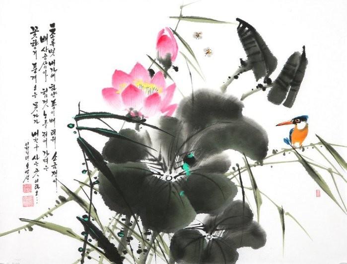 朝鲜_Oh_Young_Seong_的花鸟画欣赏朝鲜_Oh_Young_Seong_的花鸟画欣赏0015