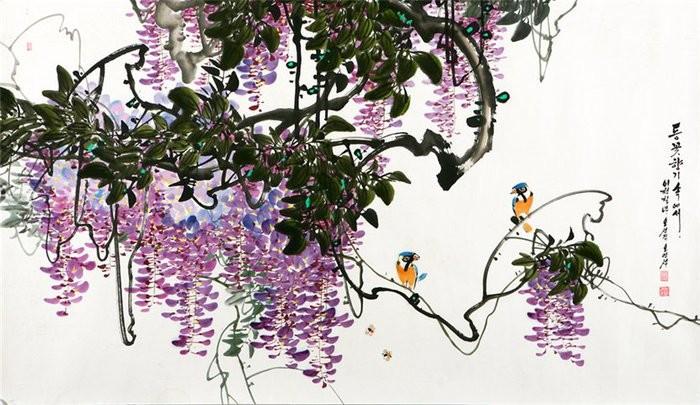 朝鲜_Oh_Young_Seong_的花鸟画欣赏朝鲜_Oh_Young_Seong_的花鸟画欣赏0016