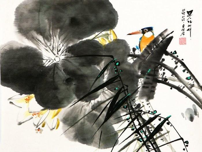 朝鲜_Oh_Young_Seong_的花鸟画欣赏朝鲜_Oh_Young_Seong_的花鸟画欣赏0019