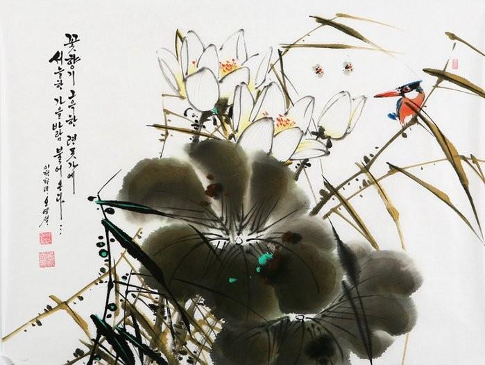 朝鲜_Oh_Young_Seong_的花鸟画欣赏朝鲜_Oh_Young_Seong_的花鸟画欣赏0021