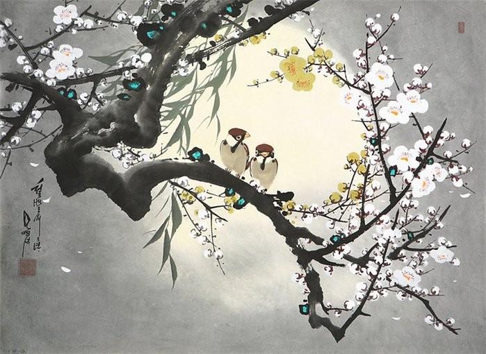 朝鲜_Oh_Young_Seong_的花鸟画欣赏朝鲜_Oh_Young_Seong_的花鸟画欣赏0024