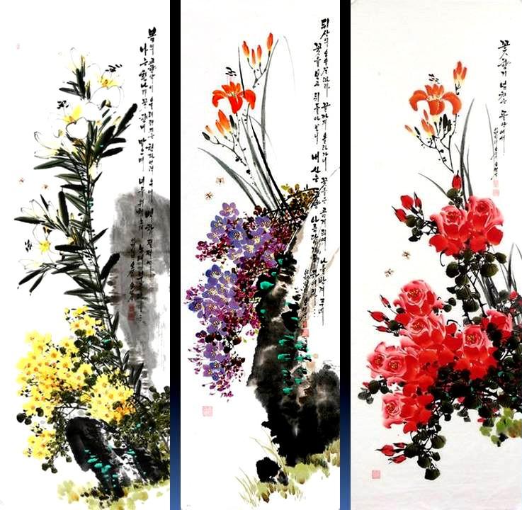 朝鲜_Oh_Young_Seong_的花鸟画欣赏朝鲜_Oh_Young_Seong_的花鸟画欣赏0026