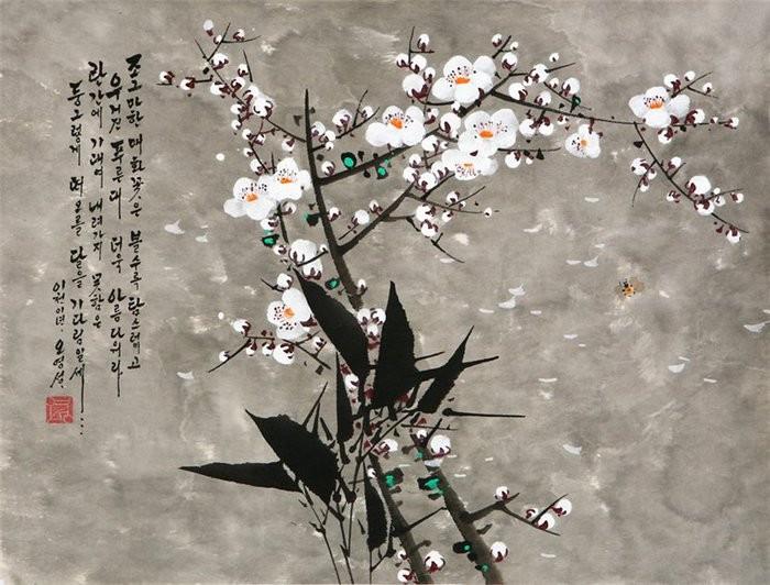 朝鲜_Oh_Young_Seong_的花鸟画欣赏朝鲜_Oh_Young_Seong_的花鸟画欣赏0029