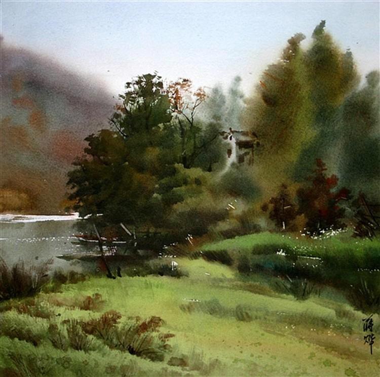 精选几幅掌握水份恰到好处的水彩画 - guan.fuyuan - guan.fuyuan的博客