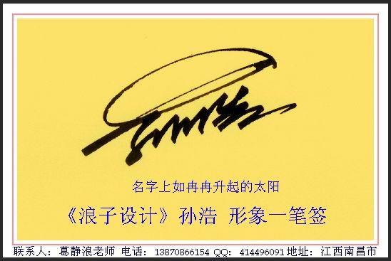 葛静浪签名设计作品欣赏孙浩签名葛静浪签名设计作品欣赏0005