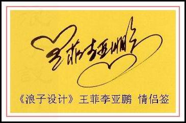 葛静浪签名设计作品欣赏王菲李亚鹏签名葛静浪签名设计作品欣赏0001