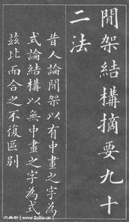 (清)黄自元楷书间架结构摘要九十二法0001作品欣赏