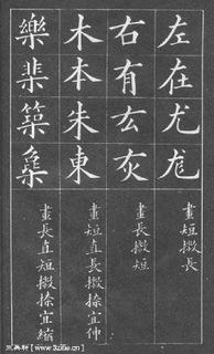 (清)黄自元楷书间架结构摘要九十二法0004作品欣赏
