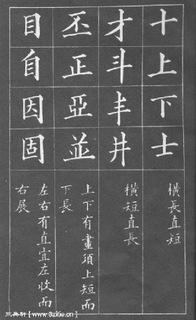 (清)黄自元楷书间架结构摘要九十二法0005作品欣赏