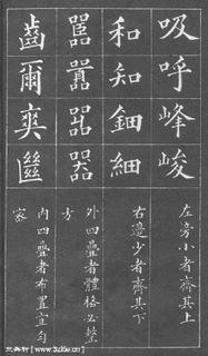 (清)黄自元楷书间架结构摘要九十二法0008作品欣赏