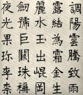 (清)张裕钊楷书千字文0002作品欣赏