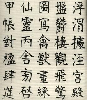 (清)张裕钊楷书千字文0015作品欣赏