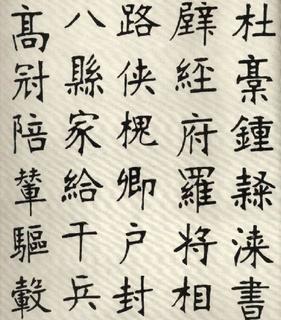 (清)张裕钊楷书千字文0017作品欣赏