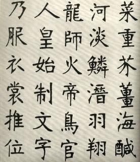 (清)张裕钊楷书千字文0003作品欣赏