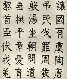 (清)张裕钊楷书千字文0004作品欣赏