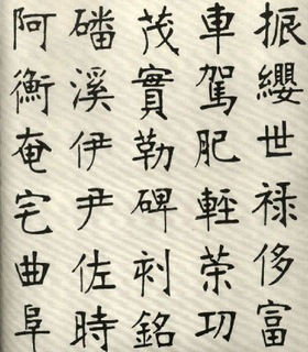 (清)张裕钊楷书千字文0018作品欣赏