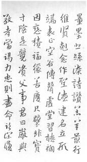 (明)朱耷(八大山人)行书千字文0004作品欣赏