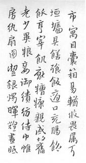 (明)朱耷(八大山人)行书千字文0014作品欣赏