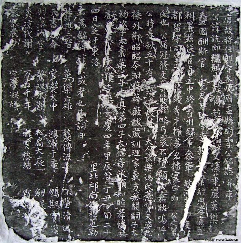 唐代《李诜墓志》0001作品欣赏