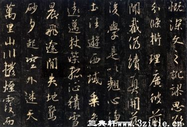 (唐)怀仁集王羲之书大唐三藏圣教序拓本0008作品欣赏