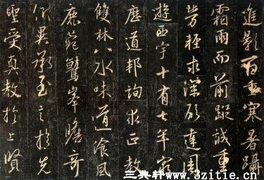 (唐)怀仁集王羲之书大唐三藏圣教序拓本0009作品欣赏
