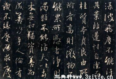 (唐)怀仁集王羲之书大唐三藏圣教序拓本0012作品欣赏
