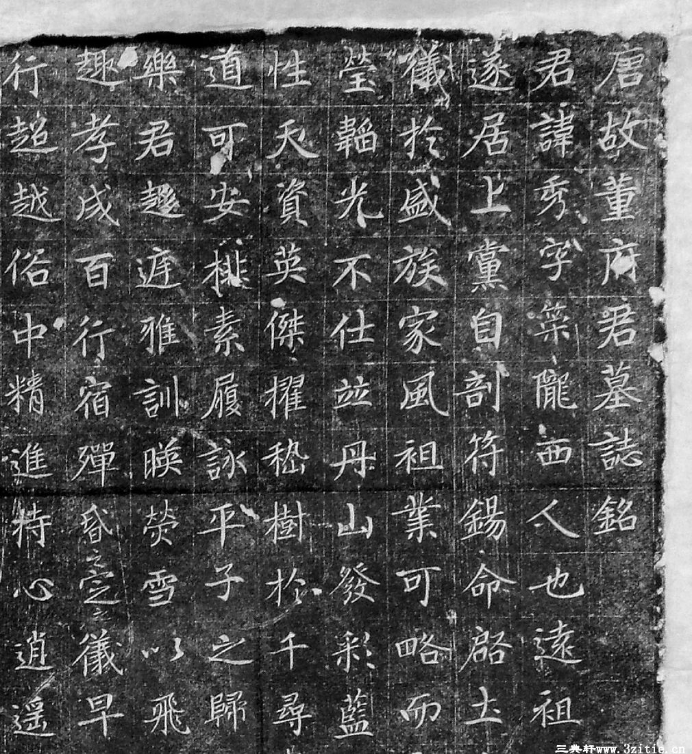 (唐)楷书_董秀墓志铭.pdf0001作品欣赏