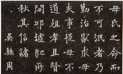 现代沙孟海书丹《陈君夫人墓志》0003作品欣赏