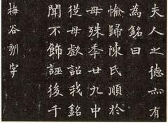 现代沙孟海书丹《陈君夫人墓志》0004作品欣赏