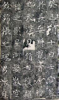 唐代《毗伽公主墓志铭》0009作品欣赏