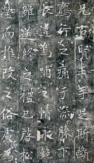 唐代《毗伽公主墓志铭》0010作品欣赏