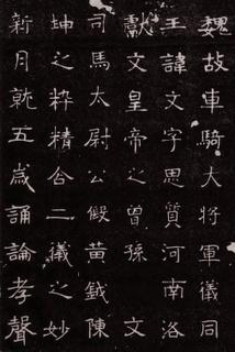 (北魏)楷隶_林虑哀王元文墓志0001作品欣赏