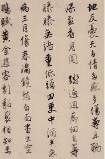 唐寅(明)唐寅行书漫兴诗0006作品欣赏