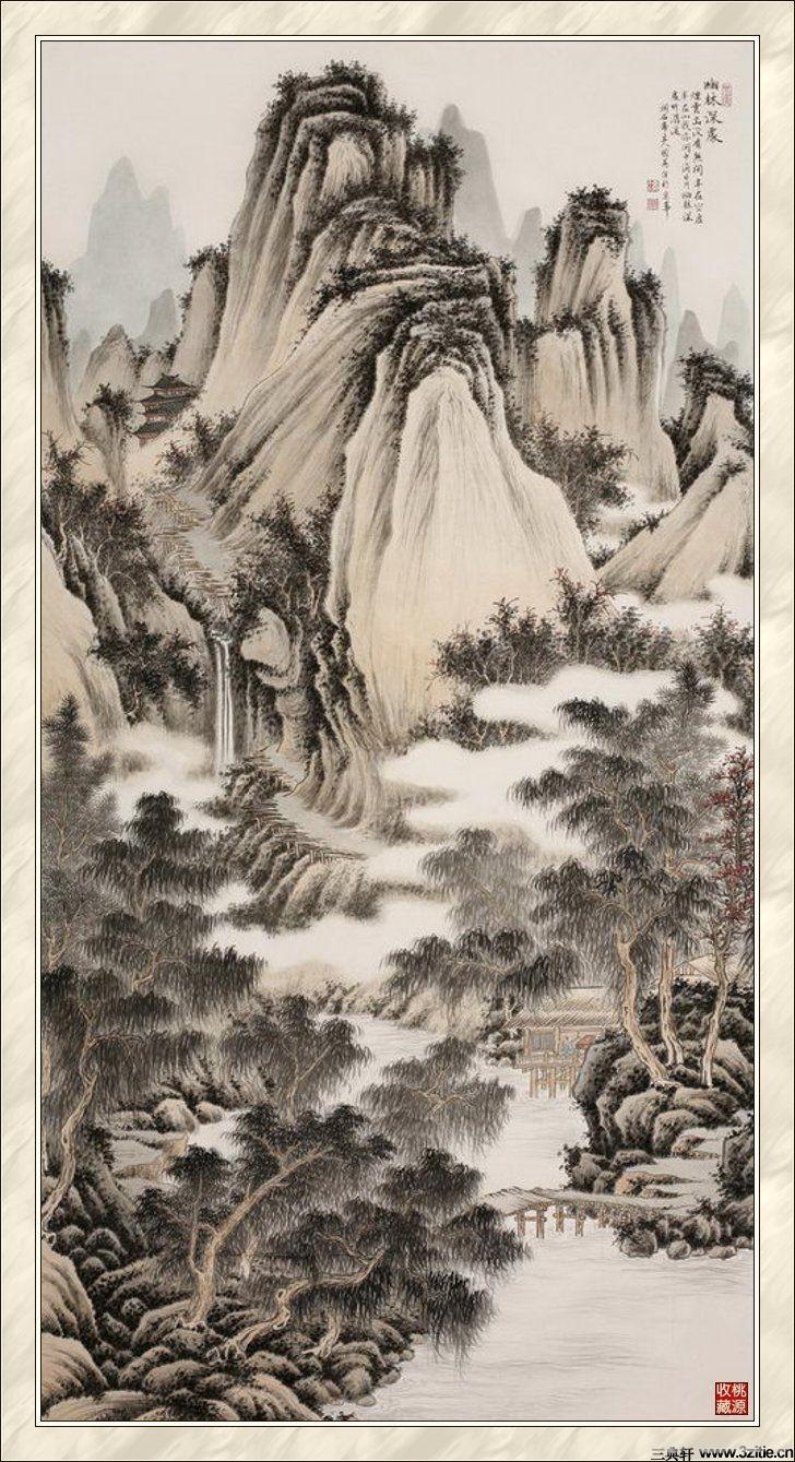 贾国英工笔山水画欣赏(四)