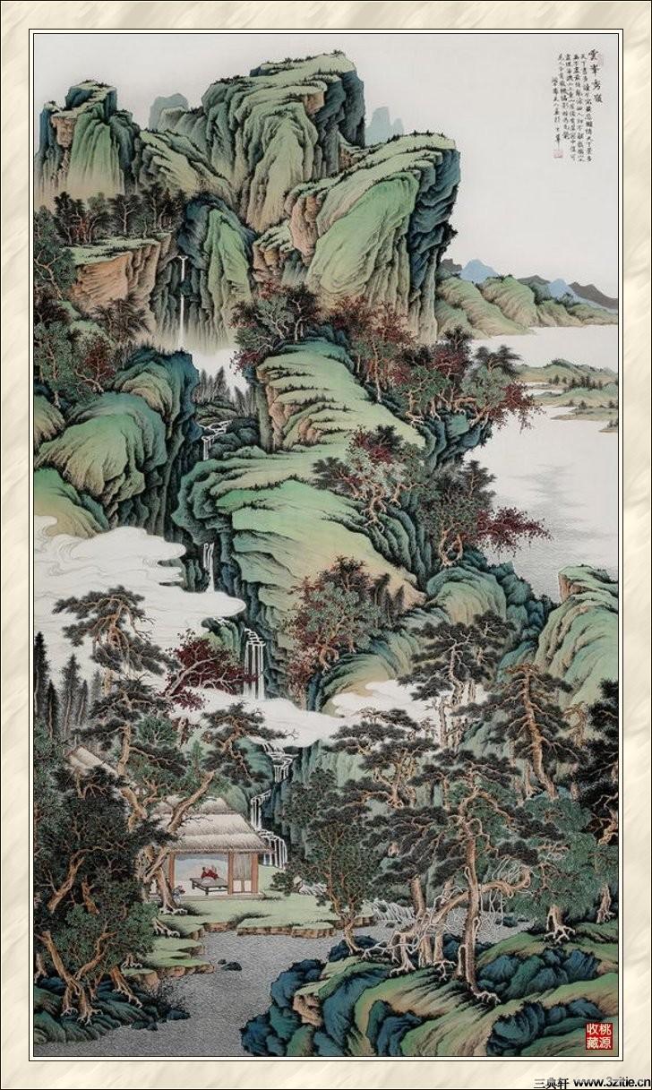 贾国英工笔山水画欣赏(二)0007作品欣赏