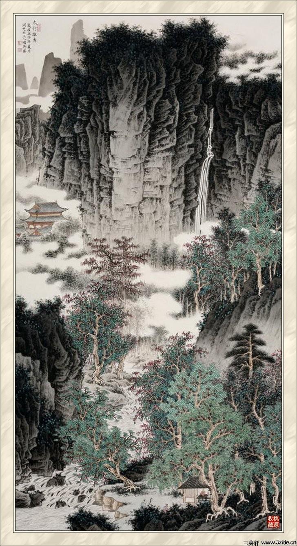 贾国英工笔山水画欣赏(二)
